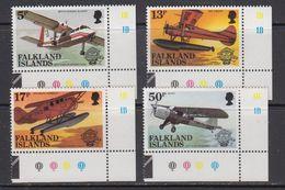 Falkland Islands 1983 Bicentenary Of Manned Flight  4v (corners) ** Mnh (41751A) - Falklandeilanden
