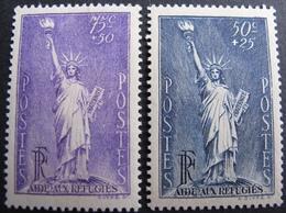 DF50500/166 - 1936/1937 - STATUE DE LA LIBERTE - N°309 Et N°352 NEUFS* - LUXE - Cote : 15,00 € - France