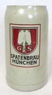 Chope à Bière En Grès - Spatenbraü München - Vaisselle, Verres & Couverts