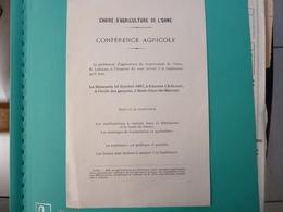 Tract Saint Clair De Halouze Conférence Agricole Du 13 Octobre 1907 - Europe