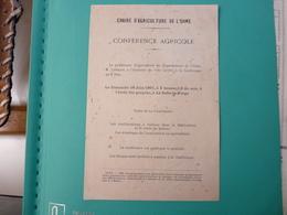 Tract La Selle La Forge Conférence Agricole Du 16 Juin 1907 - Europe