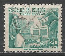 Ecuador 1952. Scott #RA63 (U) Teacher And Pupils In Schoolyard ** - Equateur