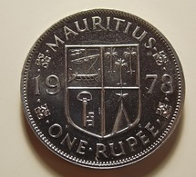 Mauritius 1 Rupee 1978 Varnished - Maurice