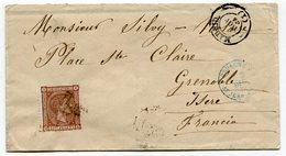 RC 11399 ESPAGNE 1875 - 40c SUR LETTRE DE MADRID POUR GRENOBLE FRANCE TB - 1875-1882 Royaume: Alphonse XII