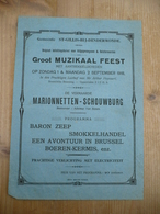 Eerste Wereldoorlog Sint Gillis Dendermonde Voor Krijgsgevangenen Muzikaal Feest September 1918 - Affiches