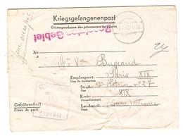 KRIEGSGEFANGENENPOST PRISONNIER 1942 RENÉ BUGEAUD N° 45919 STALAG IV G OSCHATZ /Sa - BUGEAUD PARIS - Marcophilie (Lettres)