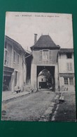 CPA ROMENAY 71 GRANDE RUE ET ANCIENNE PORTE HOTEL BOUCHERIE 1915 - France