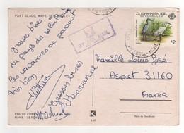 """Timbre , Stamp ( Trou D'épingle ) """" Oiseau : Aigrette """" Sur CP , Carte , Postcard Du 10/08/?? - Seychelles (1976-...)"""