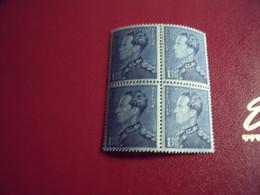 Timbre De Belgique  Effigie De S..M Roi Léopold !!!  Le 21-12-1936  Neuf** N*430 ( Bleu  Cerciléum )bloc De 4 - 1934-1935 Léopold III