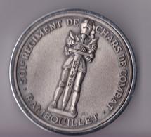501e RCC / Régiment De Chars De Combat / R.C.C. RAMBOUILLET /  Médaille De Table Presse-papier - Army & War