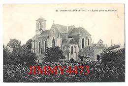 CPA - L' Eglise Prise Au Nord Est - CHAMPTOCEAUX 49 Maine Et Loire - Edit. Illisible N° 62 - Champtoceaux