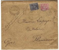 Type Sage, Levée Exceptionnelle De La Rue Lafayette - Marcophilie (Lettres)
