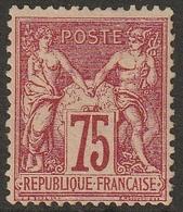 SAGE N° 71  Neuf 75cts Carmin  Sans Charnière ** MNH - 1876-1878 Sage (Type I)