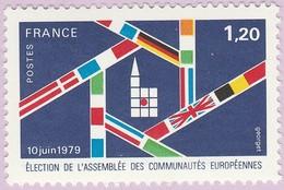 N° Yvert & Tellier 2050 - Timbre De France (Année 1979) - MNH - Élection Assemblée Communautés Européennes - Francia