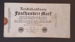 EBN8 - Germany 1922 Banknote 500 Mark Pick 74b Green 7 Digit Serial - [ 3] 1918-1933: Weimarrepubliek