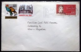 Denmark 1987   Letter  MiNr.903  TMS.Nr. 505 Haslev Skolebyen I Det Grønne  (lot 6642 ) - Covers & Documents