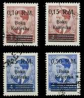 BES. 2WK KOTOR Nr 7-10 Gestempelt X88A272 - Bezetting 1938-45