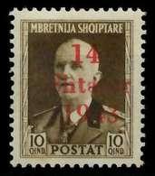 BES. 2WK ALBANIEN Nr 5 Postfrisch X88A1DA - Bezetting 1938-45