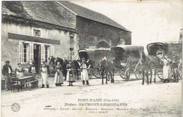 21 PONT D'AISY  Maison Gaumont Lesenfants  (attelage) - Autres Communes