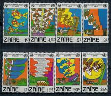 ZAIRE   1982   TELECOMUNICATIONS   MNH**   SET X 8 - Zaire
