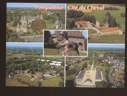 """Pompadour (19) : Le Chateau, La Jumenterie, Le Village Du Club Méditerranée, Le """"dépot"""" écuries Des étalons - Other Municipalities"""