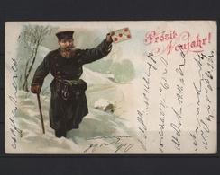 Prosit Neujahr!, Briefträger Wadet Durch Den Schnee - Nouvel An