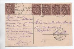 1904 - CP De SAINT AUBAN (ALPES MARITIMES) Avec TYPE BLANC - Postmark Collection (Covers)