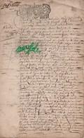 PARCHEMIN  VELUN  De  1700  - Double  Page  Avec  Cachet  Généralité  De  Lorraine  Et  Barrois - Seals Of Generality