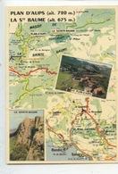 Plan D'Aups - La Sainte Baume Géographique - Carte Michelin N°84 - Cp Vierge - Aups