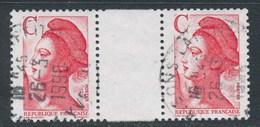 """France - Liberté Avec Lettre """"C"""" - YT 2616 Obl (paire Avec Interpanneau) - 1982-90 Vrijheid Van Gandon"""
