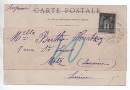 1901 - BANDE JOURNAL Sur CP Avec TàD De AMBERT (PUY DE DOME) Sur SAGE // CPA VIADUC DE CHATELMOURET - Marcophilie (Lettres)