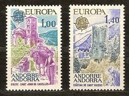 Cept 1977 Andorre Français Andorra Yvertnr. 261-262 *** MNH Cote 22 Euro - Andorre Français