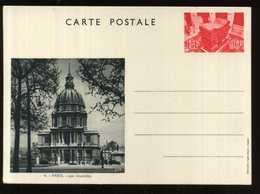 CARTE POSTALE ENTIER POSTAL 90 CTS PARIS LES INVAIDES - Enteros Postales