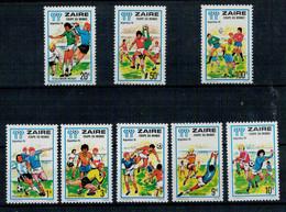 ZAIRE   1978    FOOTBALL  WORLD  CUP    ARGENTINA      MNH**   SET X 8 - Zaire
