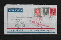 1933 Argentinien Luftpost Brief Buenos Aires Köln Berlin - Poste Aérienne