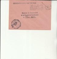 L 3 -  Enveloppe Gendarmerie De La  Bretagne  Poste SAINT DENIS - Réunion - Drogue - Alcool - Cachets Militaires A Partir De 1900 (hors Guerres)