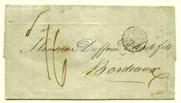 LAC 1849 London --> Bordeaux, Port Du Taxé 16 Decimes, Timbre Ligne  De Boulogne - Grande-Bretagne