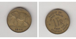 CONGO BELGE - 1 FR 1944 - Congo (Belgisch) & Ruanda-Urundi