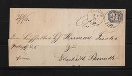 1871 Norddeutscher Bund Orts Dienst Brief Baruth - Norddeutscher Postbezirk (Confederazione Germ. Del Nord)