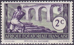 Timbre-poste Gommé Neuf** - Région Du Mayumbé - N° 34 (Yvert) - Afrique Équatoriale Française Colonie Française 1937 - A.E.F. (1936-1958)