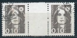 France - Marianne Du Bicentenaire (Briat) YT 2617 Obl. (paire Avec Interpanneau) - 1989-96 Marianne Du Bicentenaire