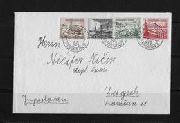 1938 Deutsches Reich Brief Leipzig Zagreb Jugoslawien - Deutschland
