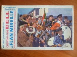 Buvard  Chewing-gum  BELL Et Flan Mireille  N° 55 - Buvards, Protège-cahiers Illustrés