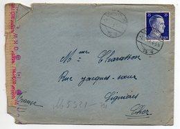 Allemagne --1944-Lettre Censurée De BERLIN N°74a  Pour LIGNIERES-18 (France) --tp N° 717 Seul Sur Lettre- Cachets - Germany