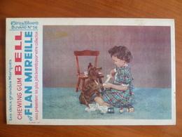 Buvard  Chewing-gum  BELL Et Flan Mireille  N° 56 - Buvards, Protège-cahiers Illustrés