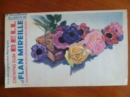Buvard  Chewing-gum  BELL Et Flan Mireille  N° 60 - Buvards, Protège-cahiers Illustrés