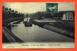 """CPA 52 Glaçée Chaumont """" Le Pont De La Maladière - L'école Louis Blanc """" - Chaumont"""