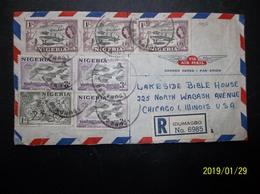 Nigeria: 1957 Rgt. Air Cover To USA (#PM8) - Nigeria (...-1960)