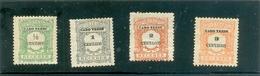 """1921 CAP VERT """" Taxe """" Y & T N° 21 à 24 ( * ) Les 4 Timbres - Cape Verde"""