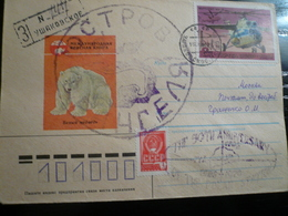 2 Letters From Wrangel Isle Polar Station Arrival Back - Stazioni Scientifiche E Stazioni Artici Alla Deriva